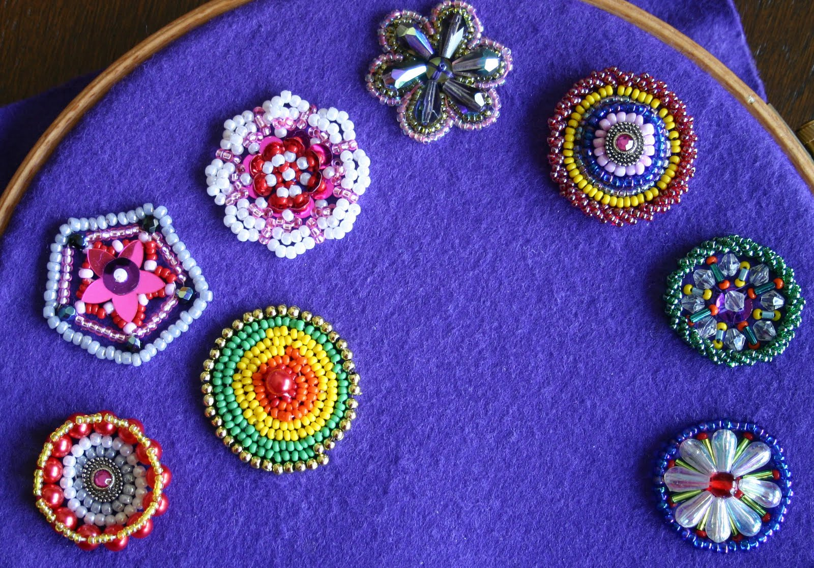 Knityoga bead embroidery and art quilt