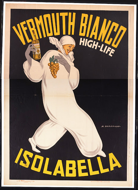 advertising, classic posters, food, free download, graphic design, italian poster, movies, retro prints, theater, vintage, vintage posters, Vermouth Bianco, High Life, Isolabella - Vintage Alcohol Advertising Poster