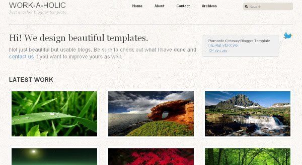 Photo Display Blogger Template