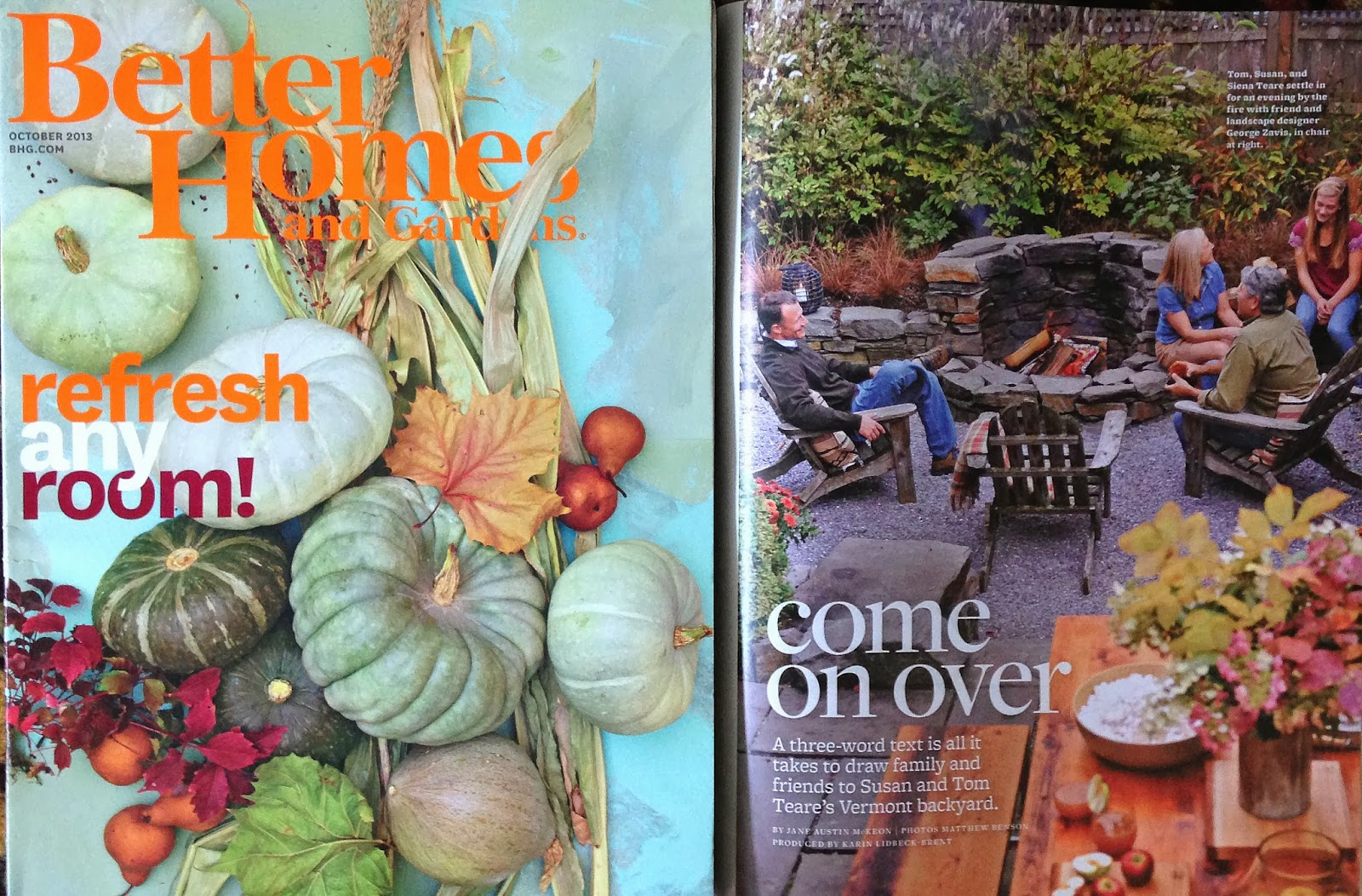 Better homes and gardens october 2013 issue susan teare Better homes gardens tv show recipes