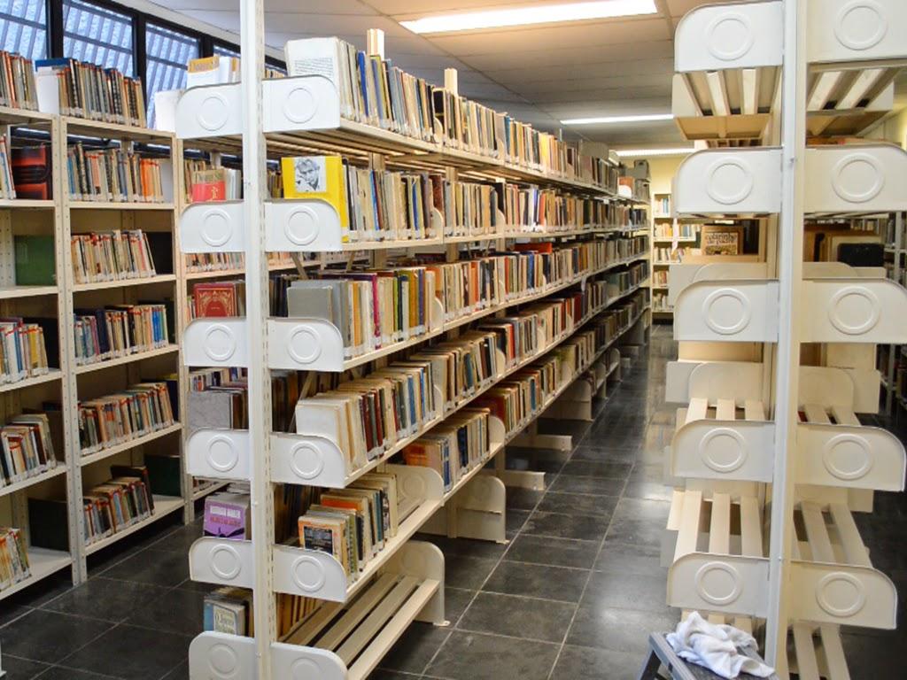 Biblioteca municipal: acervo em arrumação para abertura ao público em breve