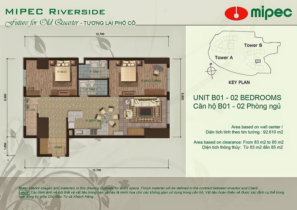 Căn B01 cư xá Mipec Riverside