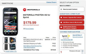 Motorola PHOTON 4G can be pre-ordered via RadioShack