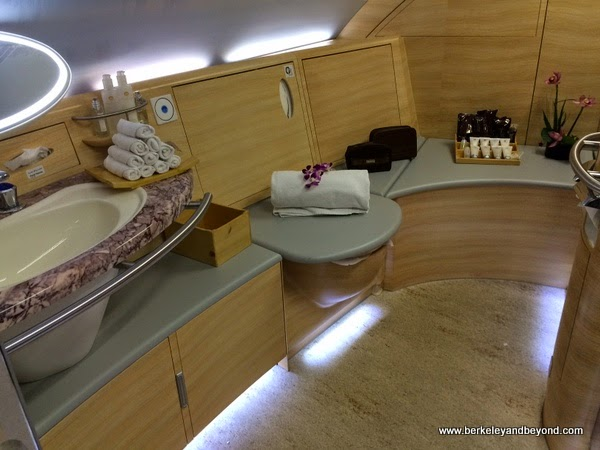 shower cubicle on Emirates A380
