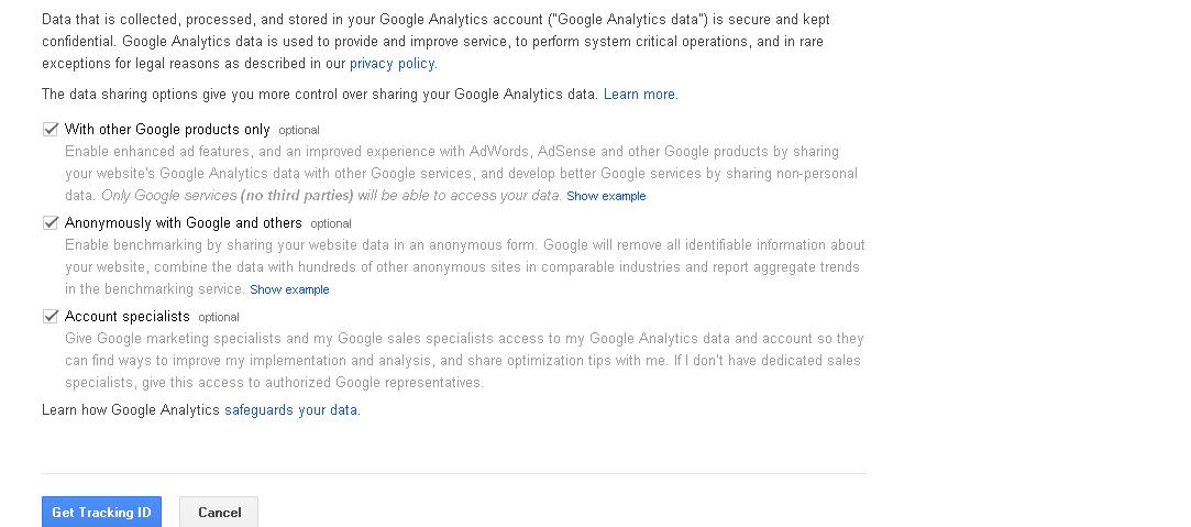 Image get tracking id google analytics