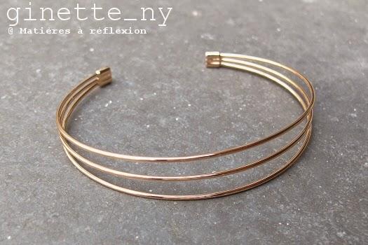 bracelet Choker Ginette NY en or rose 18 carats