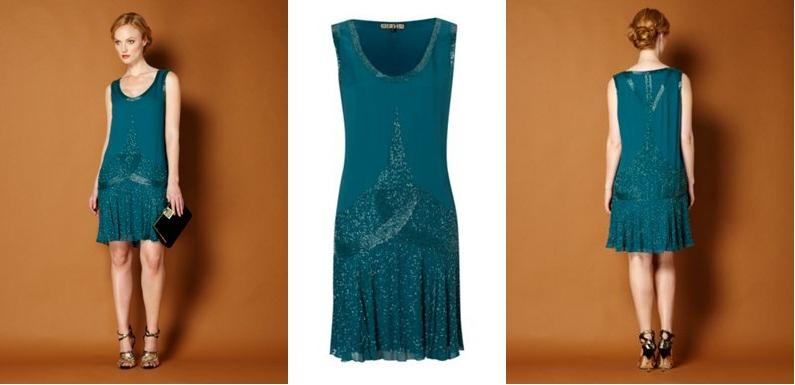 Aqua Flapper Dress hd gallery