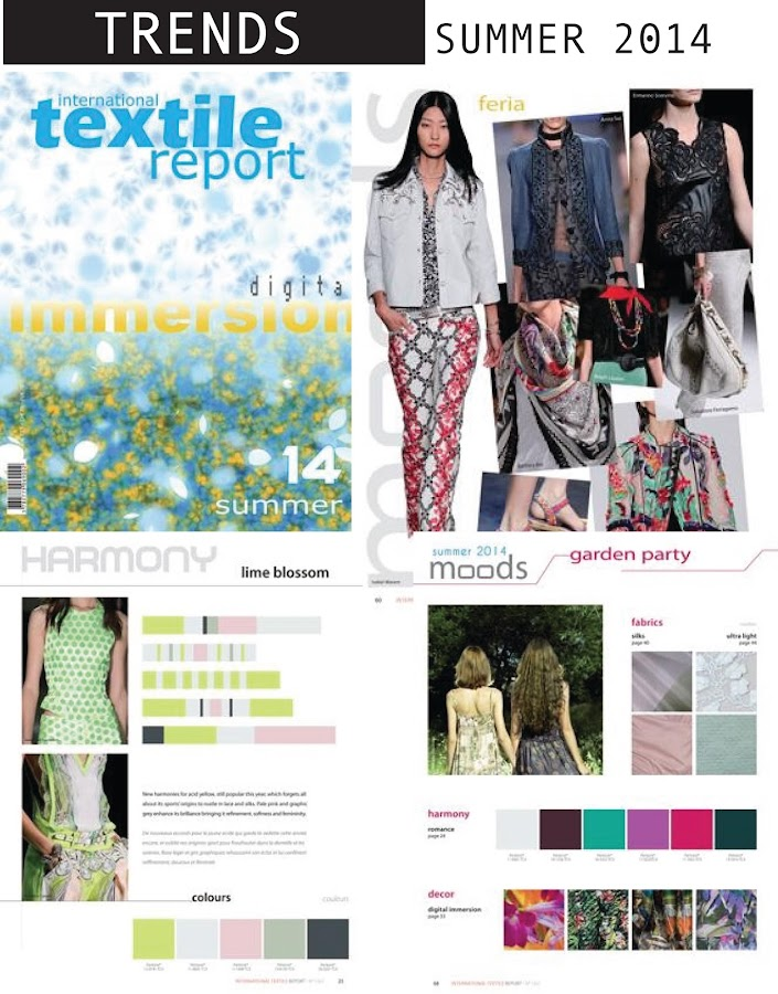 Color Trends Summer 2014 Textile