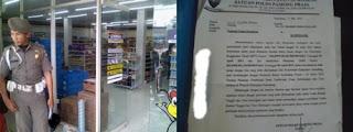 Izin Disalahgunakan Satpol PP Layangkan Teguran Usaha Pertokoan Kepada Marmin Simanullang