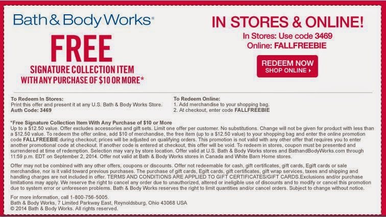 Bath and body works 10 off 30 printable coupon december 2018