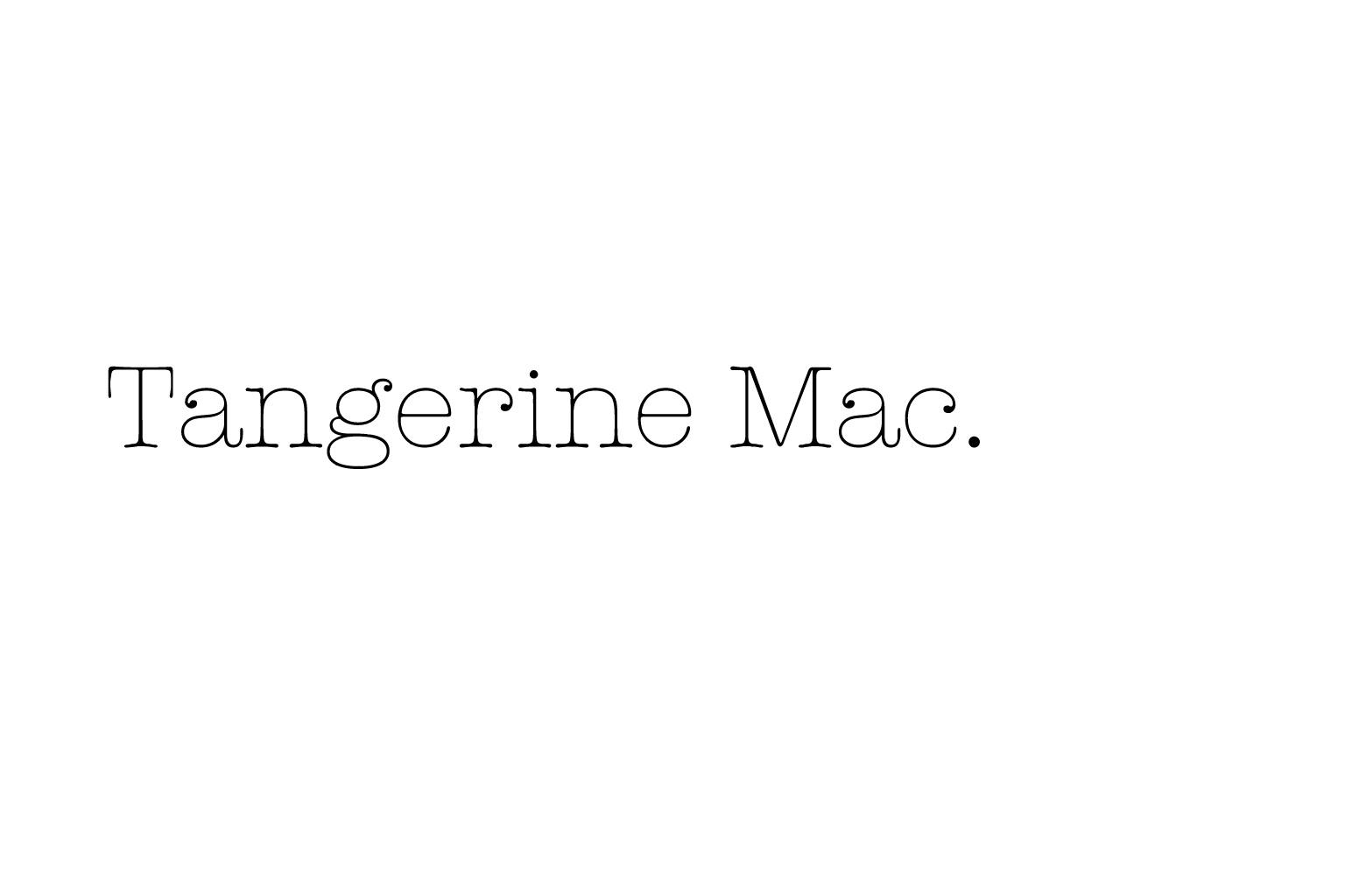 Tangerine Mac