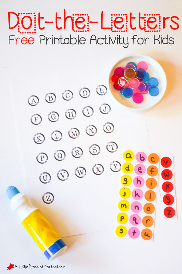 Dot The Letters Printable Activity For Kids