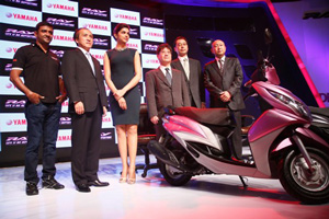 Deepika padukone at the launch of Yamaha Ray