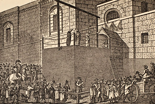An execution at Newgate