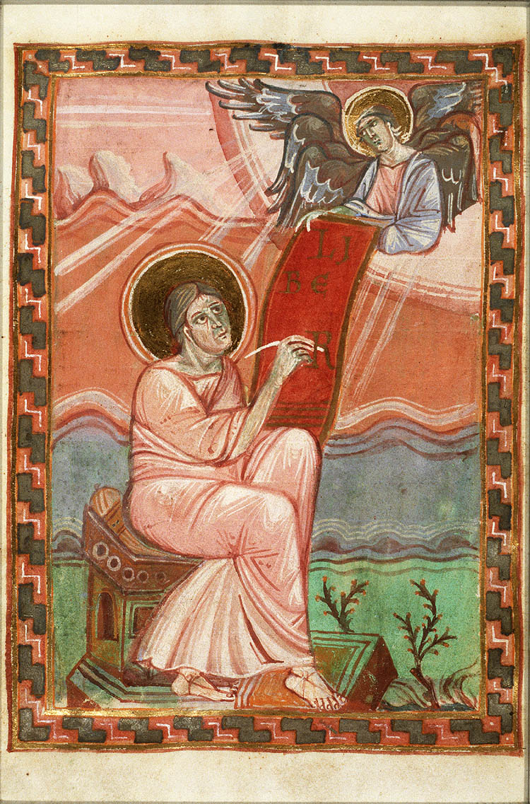 Art history group carolingian iconography in religious art fol 7v the evangelist st matthew with his symbol the angel sic winged man biocorpaavc