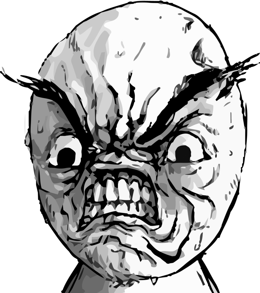 angry rage face - photo #7