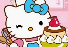 Hello Kitty Christmas cake