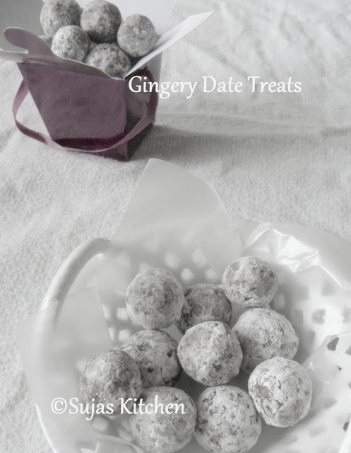 No cook Gingery Date Treats