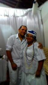 Mãe Kathia e Ogam Mariano de Xango