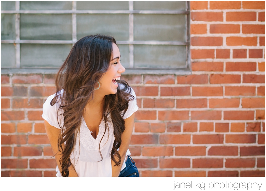 Elaina having a blast during her Sacramento senior portrait session with Janel KG Photography