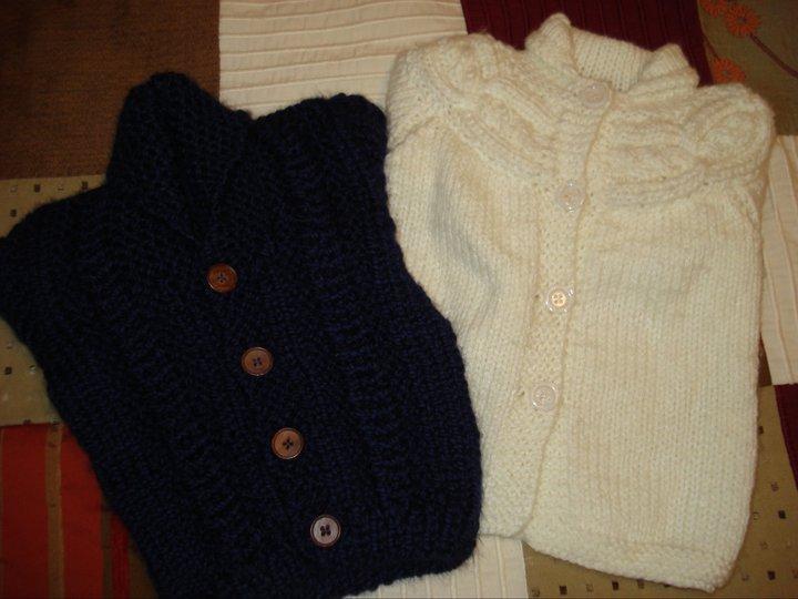 Belle Julie: Sacos tejidos a mano (nena y nene)