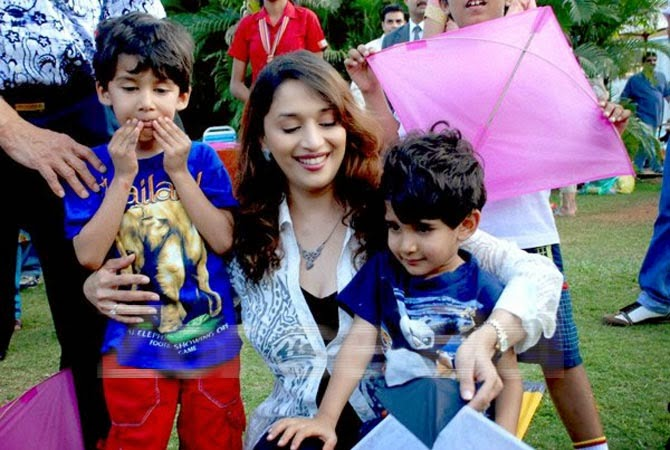Image result for madhuri dixit child