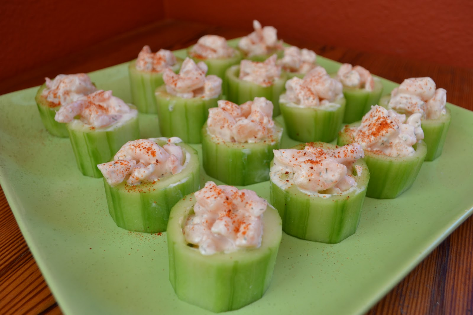 Spicy Shrimp in Cucumber Cups
