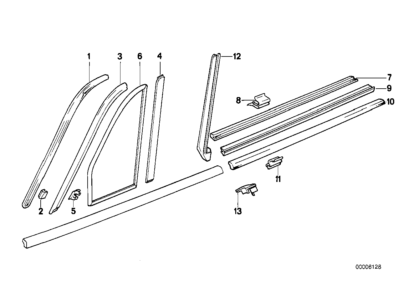 Window Seal Replacement My E30 Journey 325i Convertible Fuse Box Repair 3 Exterior Trim Grill Diagram From Realoemcom