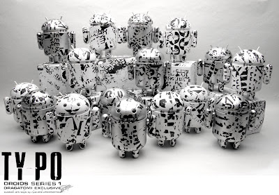 Dragatomi Exclusive Ty_po Androids Series 1 Vinyl Figures by Ryan the Wheelbarrow
