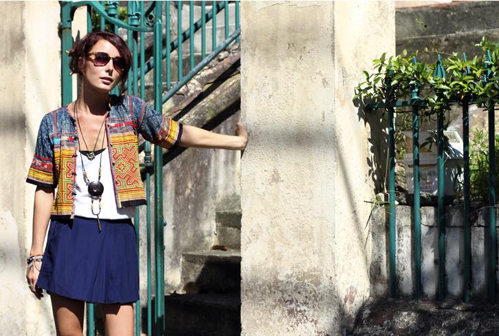 Hmong Tribal Jacket, Sydney Street Style, ethnic style, wandering style, Samantha Davis