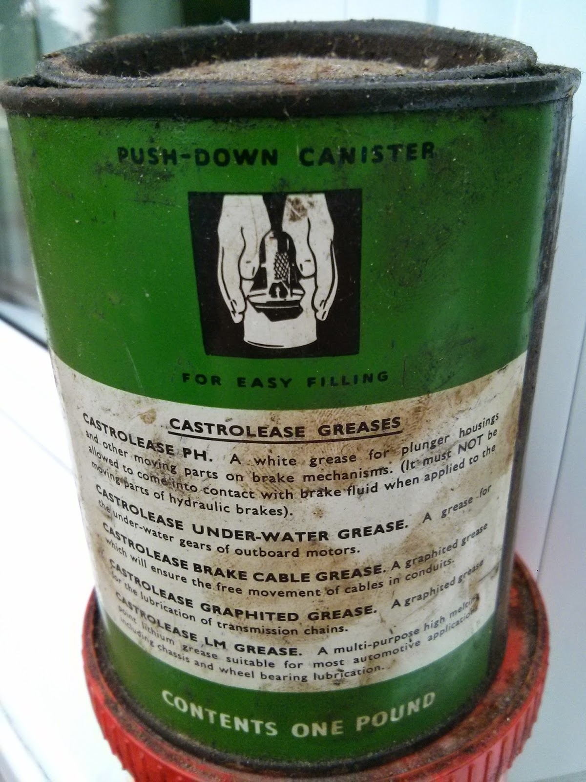 Old tin of Castrolease Graphited Grease
