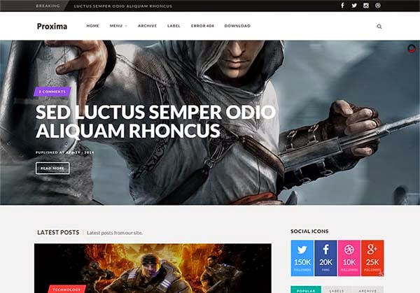 proxima-free-blogger-templates