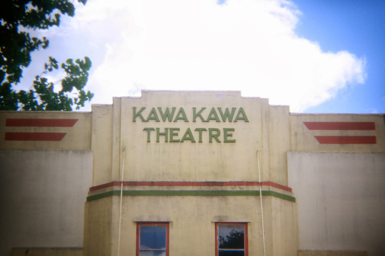 The Kawakawa theatre. It's a beautiful deco building.