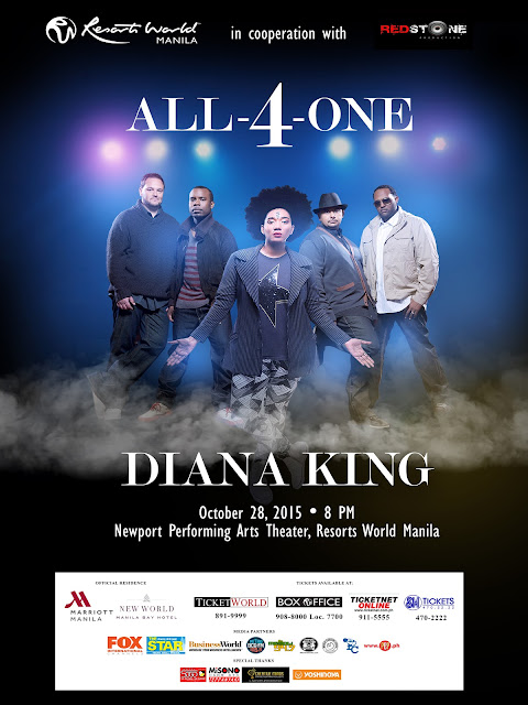 Redstone Production's blogcon of #All4OneDianaKing upcoming concert on October 28, 2015, 8 PM at the Newport Performing Arts Theater of the Resorts World Manila