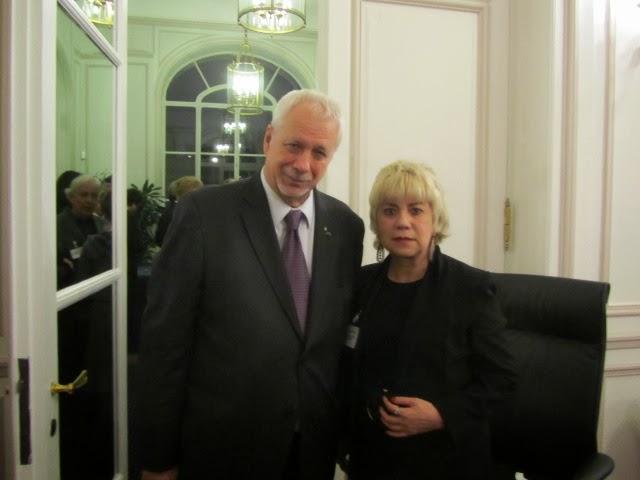 *M. Pierre Marc JOHNSON, Ancien Premier Ministre du Québec & Morgane BRAVO*