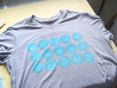 hand painted polka dot t-shirt refashion