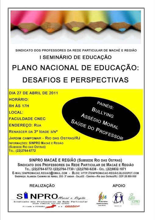 1º Seminário de Educação