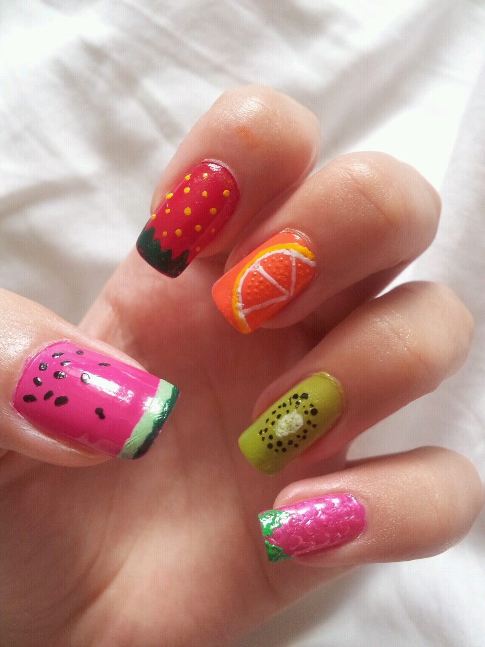 Nail Art Design 2014: Collection of fruit nail art