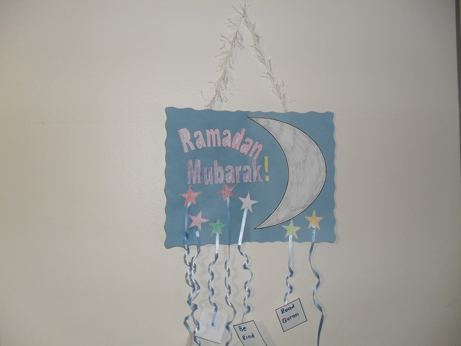 A Muslim Child is Born: Ramadan Craft Idea # 1: Door Decoration