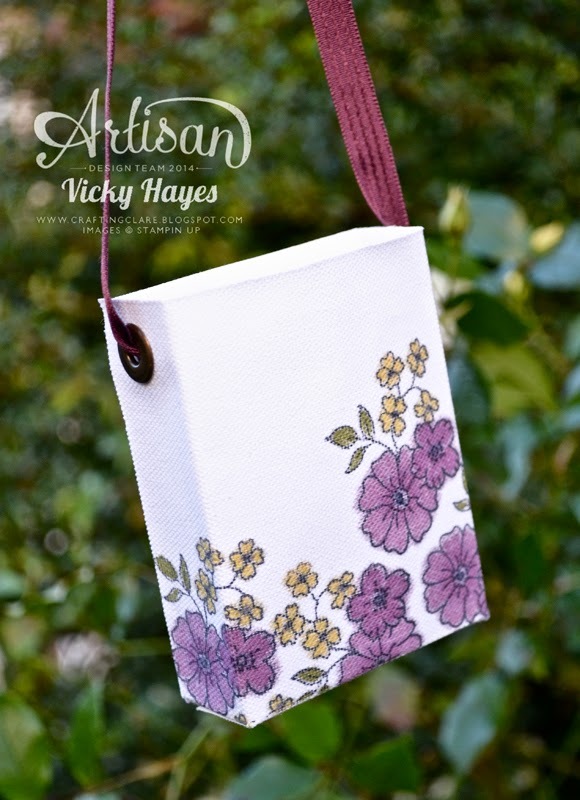 Use Stampin' Up blendabilities on my no sew canvase bag