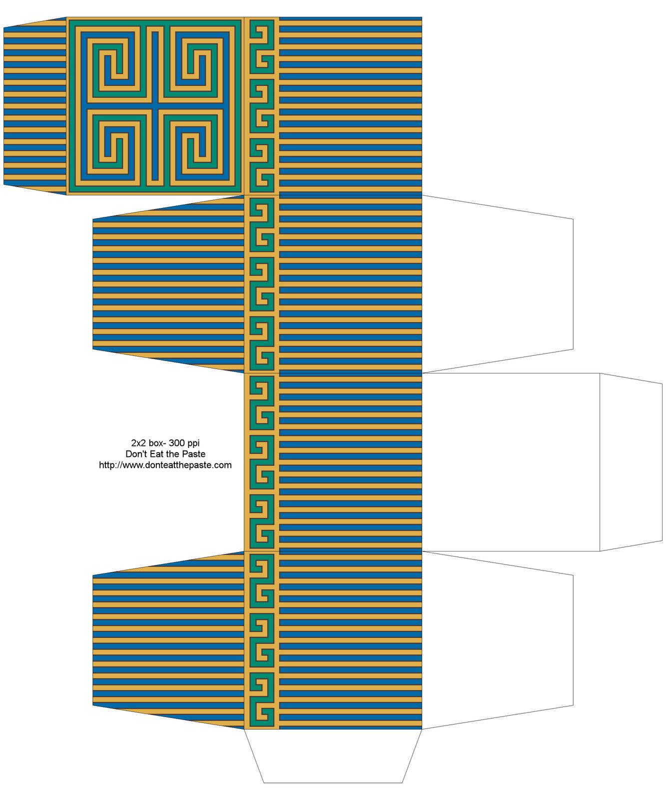 Dont Eat The Paste Greek Key Inspired Printable Box