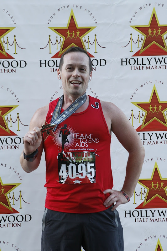 Jason after Hollywood Half Marathon