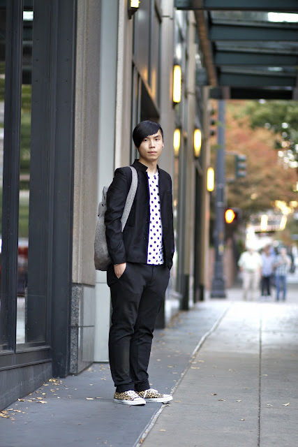 Bryant Polka Dot downtown seattle street style