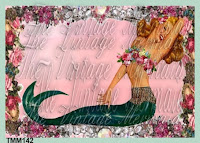 Marilyn Monroe Mermaid pinup girl mermaid fabric block by vintagemermaidsfabricblocks.com