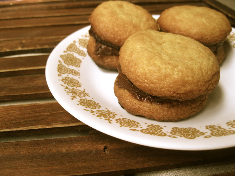 Blissful Whimsy: Hazelnut Sandwich Cookies with Chocolate ...