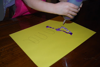 practice with letter, preschooler writing name