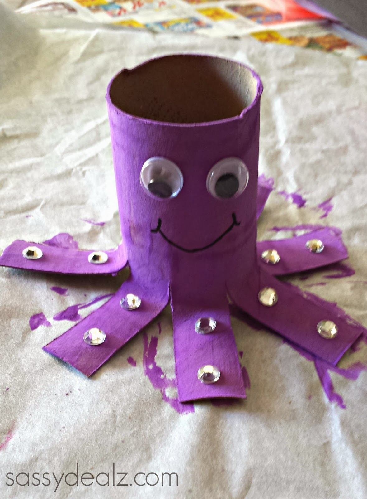Octopus toilet paper roll craft for kids crafty morning for Paper roll projects