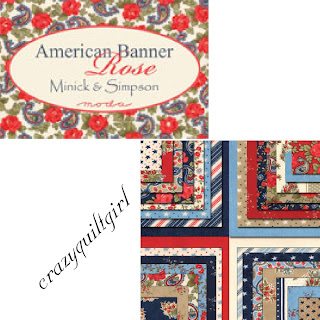 Moda AMERICAN BANNER ROSE Quilt Fabric by Minick & Simpson