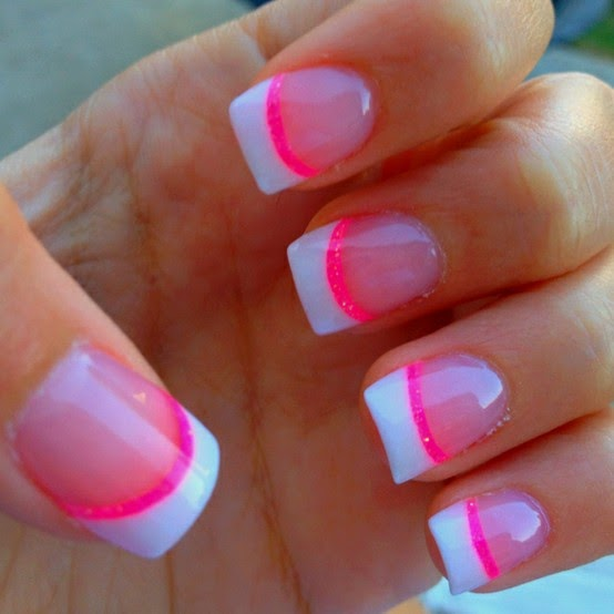 Neon Colors Nail Art Design on