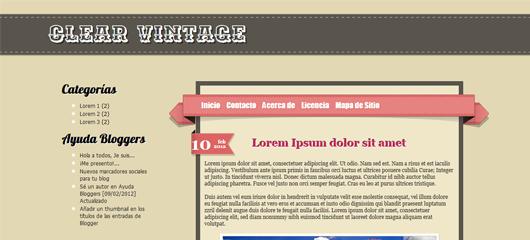 Plantilla para Blogger: Clean Vintage